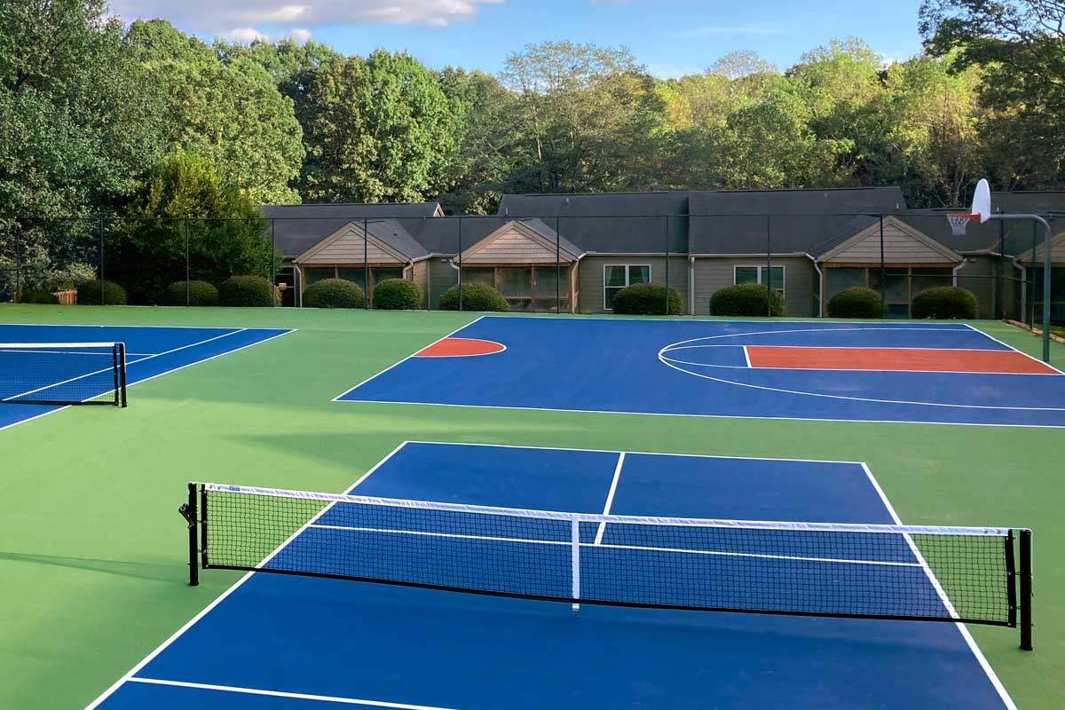 tennis and basketball courts
